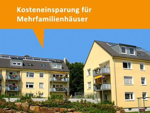 Kosteneinsparung für Mehrfamilienhäuser