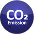 Button, Icon Co2-Emissionen